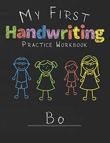 My first Handwriting Practice Workbook Bo: 8.5x11 Composition Writing Paper Notebook for kids in kindergarten primary school I dashed midline I For Pre-K, K-1,K-2,K-3 I Back To School Gift