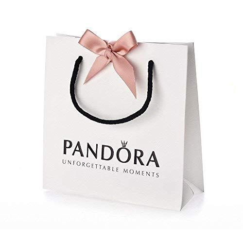 Bolsa de Pandora (16x16x6). Lazo rosa y cordón negro