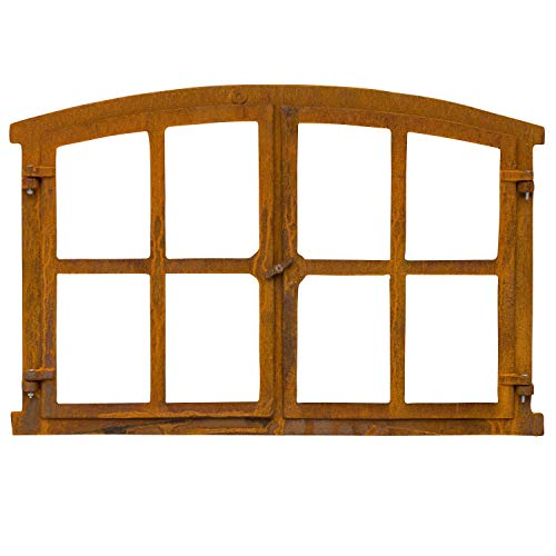 Stallfenster Fenster zum Öffnen Scheunenfenster Eisen Rost 74cm Antik-Stil