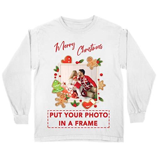 lepni.me Camiseta para Niños CREA tu Propio Impreso Regalos Personalizados para Familia (12-13 Years Blanco Multicolor)