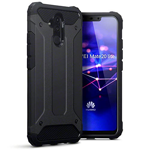 TERRAPIN Custodia Huawei Mate 20 Lite, TPU e Cover di PC Rigida per Huawei Mate 20 Lite Cover Colore: Nero
