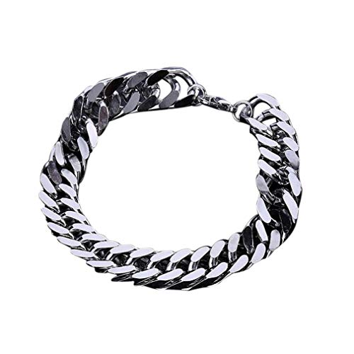 HehiFRlark Y129 - Pulseras para hombre, cadena de niño, pulsera de acero inoxidable universal