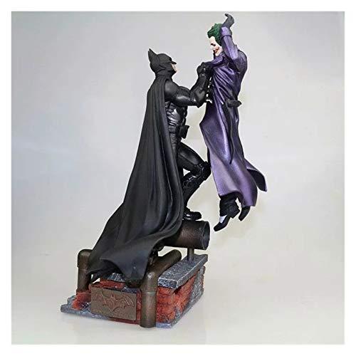 XIAOZSM Figura de acción Batman vs Joker Estatua Figura de acción Toy 300mm Diorama Figuros Modelo Juguetes Anime Batman Joker Figurine (Color : with Retail Box)