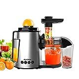 Entsafter Slow Juicer,AUCMA Slow Juicer BPA-frei Entsafter Gemüse und Obst Profi Entsafter,Kauen...