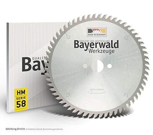 Bayerwald - HM Kreissägeblatt für Holz - Ø 254 mm x 2,8 mm x 30 mm | WZ negativ (80 Zähne) | für Metabo KGS 254 | Kombinebenlöcher