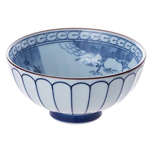 有田焼 菊彫山水 茶碗(大)