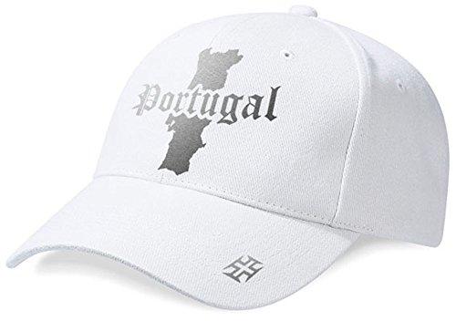 DASHOP Casquette Portugal Mini Pays Blanc et Argent Métallisé