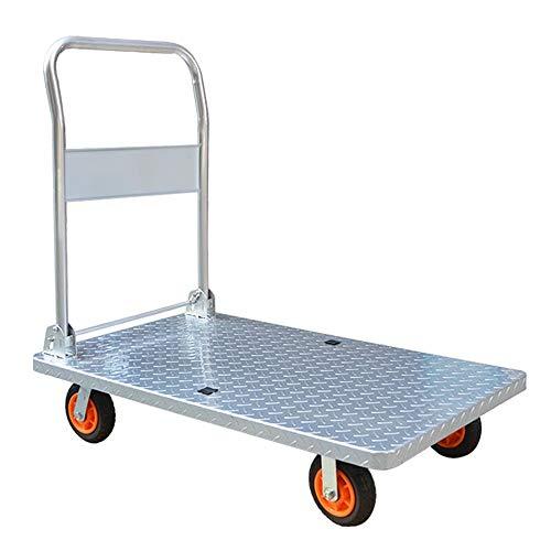 Nobranded steekwagen voor het vervoer van winkelwagen, staal, inklapbaar, 360 graden draaibaar, mand voor bagage, flexibel draaibaar