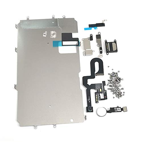 E-repair Screen Metal Bracket Front Camera Flex Cable Small Parts Set Replacement for iPhone 7 Plus (5.5 inch) (Silver)