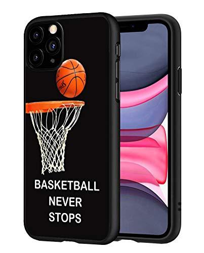 ZOXOHO iPhone 11 Hülle, Slim Anti-Scratch Flexible Stoßabsorbierende Silikon Schutzhülle für iPhone 11 (2019) 6.1 Zoll - Basketball Never Stops