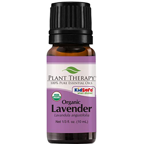 Plant Therapy Lavender Organic Essential Oil 100% Pure, USDA Certified Organic, Undiluted, Natural Aromatherapy, Therapeutic Grade 10 mL (1/3 oz)