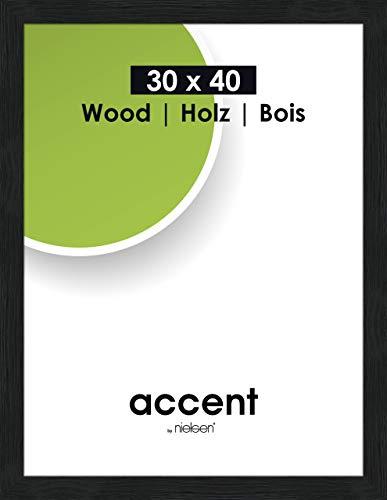 Accent Holz Bilderrahmen Magic, 30x40 cm, Schwarz