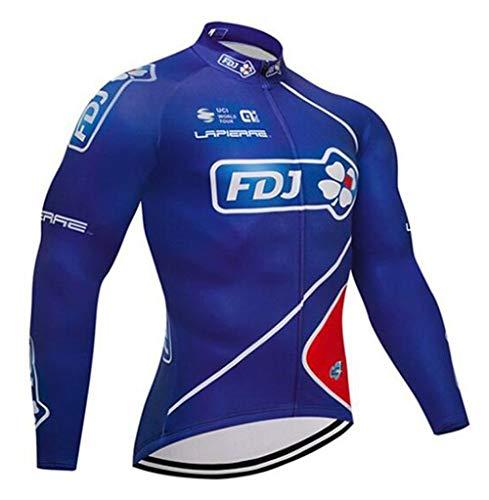 TOPBIKEB fietskleding shirt voor mannen, fietsshirt met lange mouwen voor mountainbike