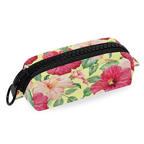 Big Zipper Canvas Pencil Case Pen Bag Landscape Flower Bonsai Tree Japanese Pouch Makeup Cosmetic Bag