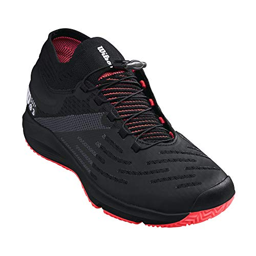Wilson Footwear mens Kaos 3.0 Sft Tennis Shoe, Black/White/Fiery Coral, 13 US