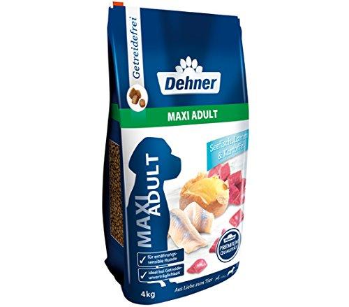 Dehner Premium hondendroog voer Maxi Adult, zeevis en lam met aardappel, 4 kg