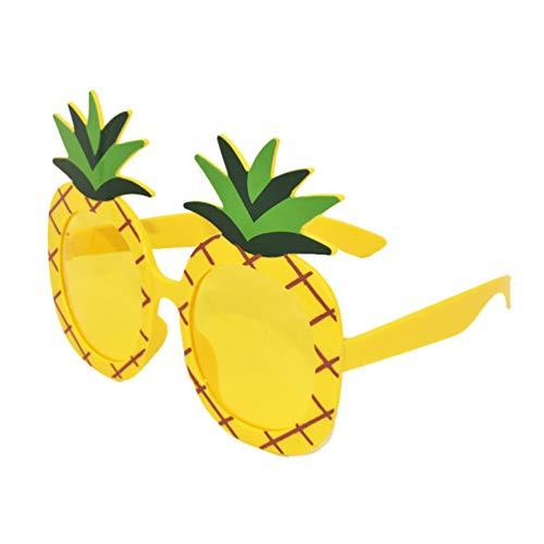Amosfun Hawaii Party Brille Ananas Brille Brille dekorative Brille Sonnenbrille für Tropische Tiki Sommer Pool Party Mithelfer