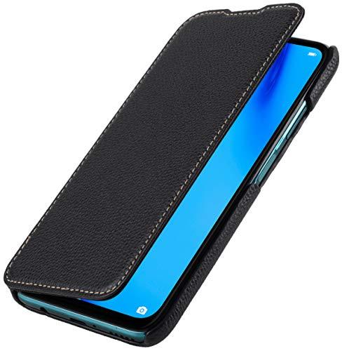 StilGut Funda para Huawei P40 Lite Funda Libro de Cuero con Tapa Lateral, Carcasa Tapa, Negro