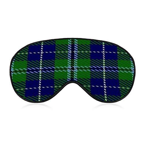 Bequeme und superweiche Augenmaske mit verstellbarem Riemen, schottisches Clan Douglas Tartan, Augenbinde für Kinder, Damen, Herren