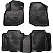 Husky Liners Fits 2009-13 Honda Fit Weatherbeater Front & 2nd Seat Floor Mats