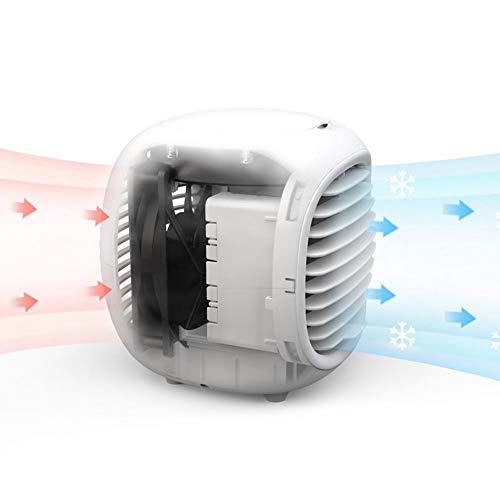 Tragbare Klimaanlage,Mini-Luftkühler USB Desktop-Wasserkühlventilator, Schnellkühlung Mini-Luftkühlerlüfter, Luftbefeuchter, Luftreiniger Kühlung für Zuhause,Schlafzimmer,Auto,Büro,drinnen,Campi