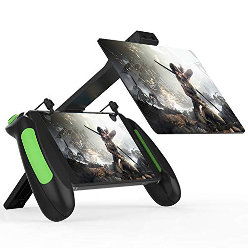 Xianw F1 Grip Game Controller Mobiler Joystick Gamepad, ergonomisches Design Griffhalterung Handgriffständer für PUBG Fortnite Red Dead: Erlösung, Unterstützung 5,5 '' - 6,5 '' Smartphone