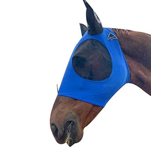 Balacoo máscara de Mosca de Cara Completa de Caballo con Orejas para Mosquitos de prevención de picaduras al Aire Libre