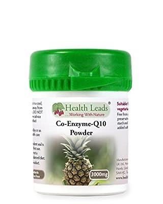 Coenzyme Q10 Powder 3000mg (100% Additive Free) by Health Leads UK