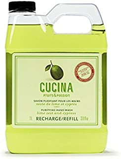 Fruits & Passion [Cucina] – Coriander and Olive Tree Liquid Hand Soap Refill,..