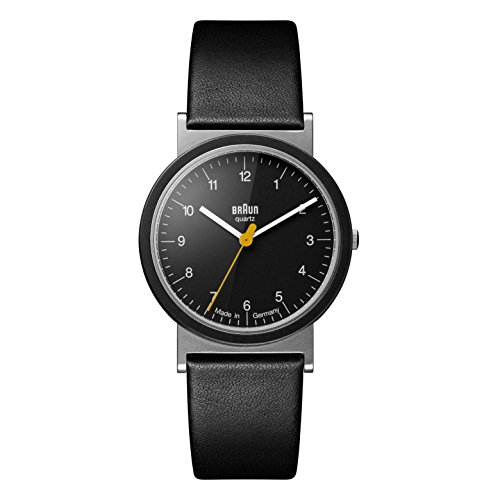 Braun Classic Unisex Analog Quartz Watch with Leather Bracelet AW10