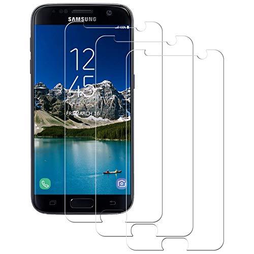 Aspiree Panzerglas Schutzfolie für Samsung Galaxy S7, [3 Stück] Galaxy S7 Gehärtetes Glas Displayschutzfolie mit 9H Härte, HD Ultra Klar, Anti-Kratzen, Anti-Öl, Displayschutz Folie