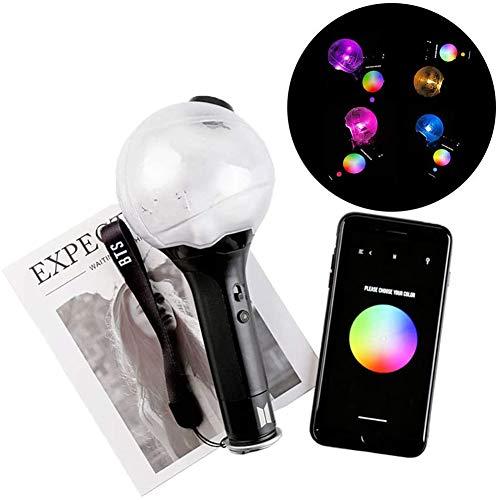 GLX BTS Merch Army Bomb Ver 3 Official Bluetooth,L'app Ajuste La Couleur, La Lumière De Concert Et Les Acclamations (No)