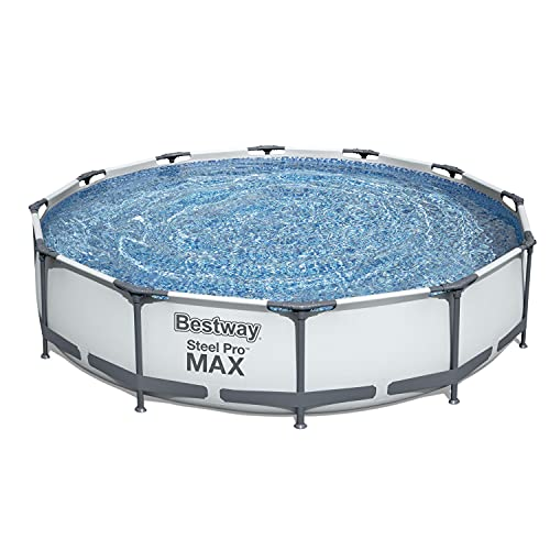 Bestway 56417 Steel Pro Above Ground, 12ft x 30 Inch | Frame Swimming Pool with Filter Pump