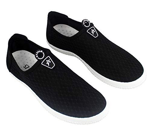 Zapatos Deportes para Hombre,Calzado para Verano sin Cordones,Zapatillas Casuales Transpirables de Fondo Plano para Correr Gimnasio Sneakers Deportivas (1309 Negro, Numeric_41)