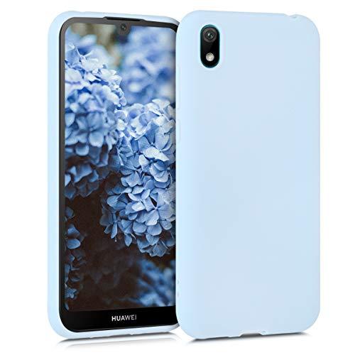 kwmobile Hülle kompatibel mit Huawei Y5 (2019) - Hülle Silikon - Soft Handyhülle - Handy Hülle in Hellblau matt