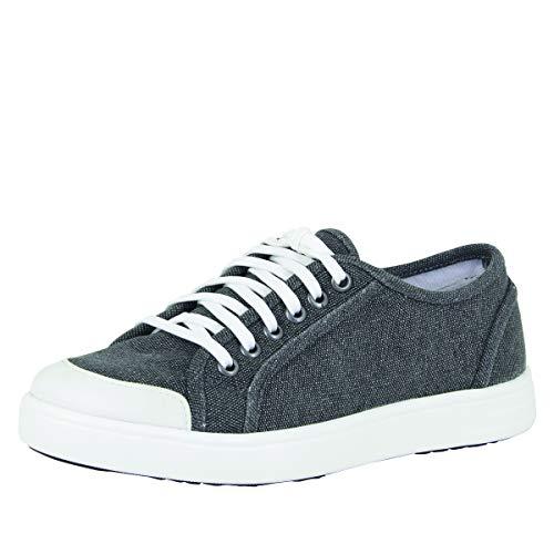 Alegria TRAQ Sneaq Womens Smart Walking Shoe Washed Black 8-8.5 M US