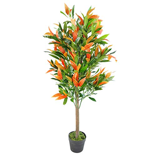 Leaf Design UK-Árbol Artificial de ficus (130 cm), Color, Photinia Rojo Verde