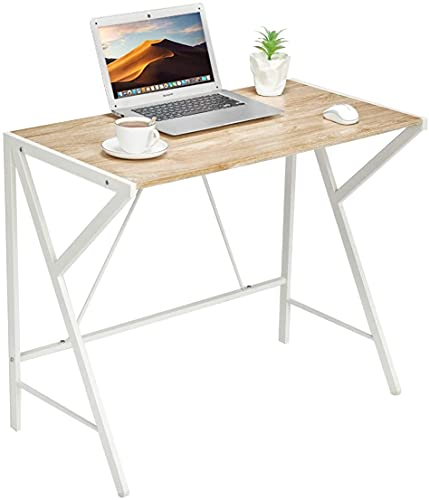 Aingoo Scrivania per computer Scrivania per ufficio semplice Scrivania per computer piccola per stanze piccole, uffici, facile da montare Beige