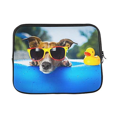 JOCHUAN Design Benutzerdefinierte Hund Auf Blau Luftmatratze Erfrischungshülse Weiche Laptop Tasche Tasche Haut Für MacBook Air 11