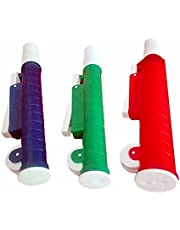 Bomba de pipeta verde, roja y azul de 2 ml, 10 ml, 25 ml, de laboratorio