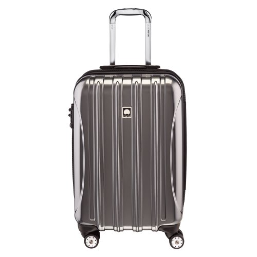 DELSEY Paris Helium Aero Hardside Expandable Luggage with Spinner Wheels, Titanium Silver, Carry-On 21 Inch