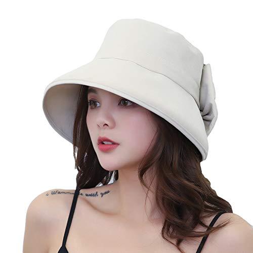 CROW Arco de algodón sólido, Sombrero de sombrilla de Arco, Sombrero Femenino y Sombrero de Viaje de otoño, Pescador Plegable, señora Que Cubre la Cara, Sombrero con capu C2