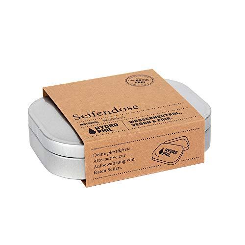 Umweltfreundliche Seifendose aus Weißblech, 100% plastikfrei, aus recycelbarem Material, für alle gängigen Größen fester Seifen
