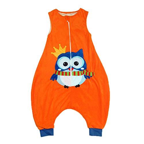 TEFIIR Kleinkind Kinder Baby Jungen Mädchen Cartoon Jumpsuit Fleece Tragbare Decke Schlafsack Pyjama Tier Fleece Jumpsuit Home Service ärmellose Weste Schlafsack (1-7Y)