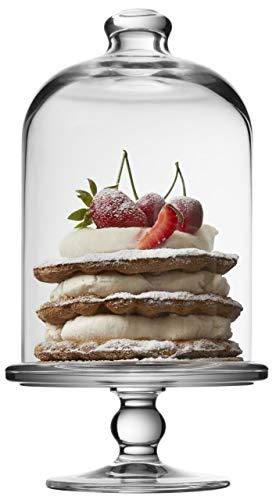 SWEET HOME Soporte para Pasteles en Vidrio con Campana de Vidrio cod.AC00411LU cm 23h diam.10 by Varotto & Co.