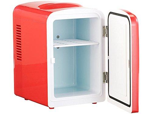 Mini Kühlschrank mit Warmhalte Funktion, 4 Liter, für 12/230 Volt, rot