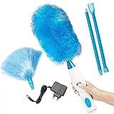 tx 360 ° rotante spazzola elettrica per la pulizia,duster penna della spazzola l'elettrica duster spolverino elettrico multifunzione (ricarica soldi,blu)