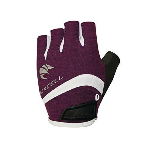 Chiba Lady BioXCell Pro Damen Fahrrad Handschuhe kurz lila 2019: Größe: M (8)