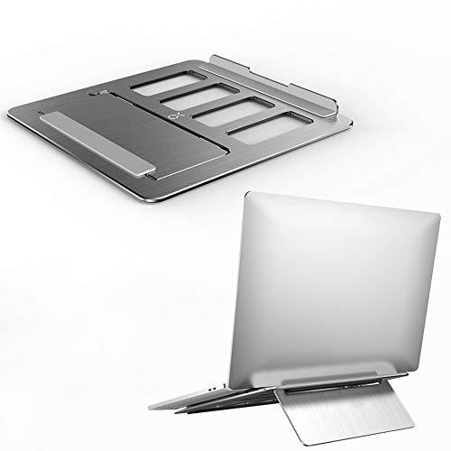 Folding Portable Laptop Stand Aluminum Alloy Bracket Support 11-17' Notebook Desktop Tablet Holder Desk for iPad MacBook Pro Air