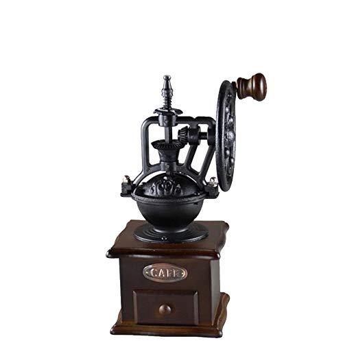 LYGACX Retro handgekurbelte Kaffeemaschine, riesiges Roulette im Retro-Stil, Pulvertrog mit Schublade, Beibehaltung des natürlichen Geschmacks von Kaffee